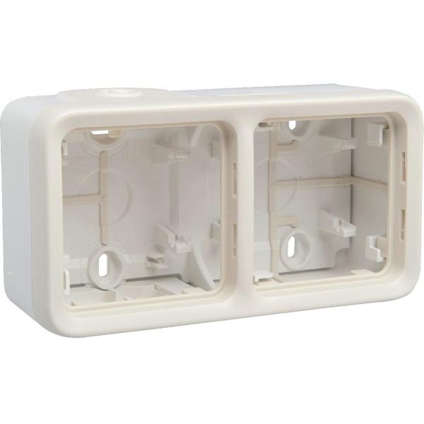 Boîtier blanc composable - 2 postes horizontaux - Plexo - Legrand