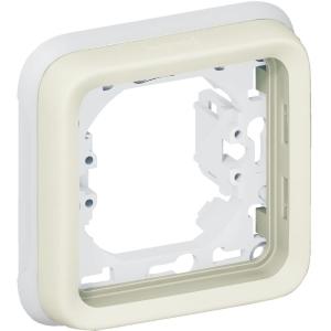 Support plaque blanche composable - 1 poste - Plexo - Legrand