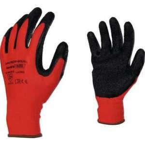 Gants de précision enduction latex rouge et noir - Eurotechnique