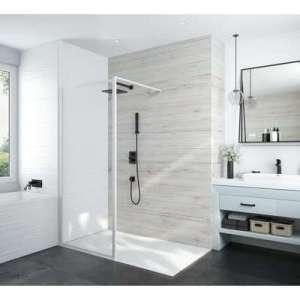 Paroi de douche ouverte Atout 3 - Verre transparent
