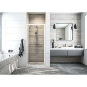 Porte de douche pivotante Atout 3 - Accès de face - Verre transparent
