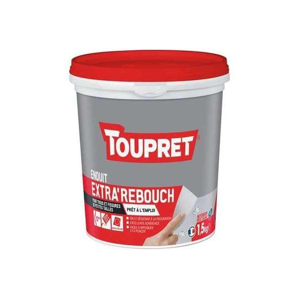 Enduit pâte blanc extra'rebouch - Pot 1,5 kg - Toupret