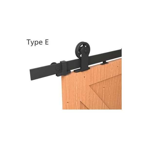 Kit Monture noir Roc Design pour porte coulissante - Type E - Mantion