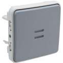 Poussoir NO lumineux Plexo composable IP 55 - Legrand