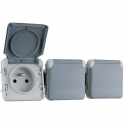 Prise 3 x 2P+T Plexo composable IP 55 - Legrand