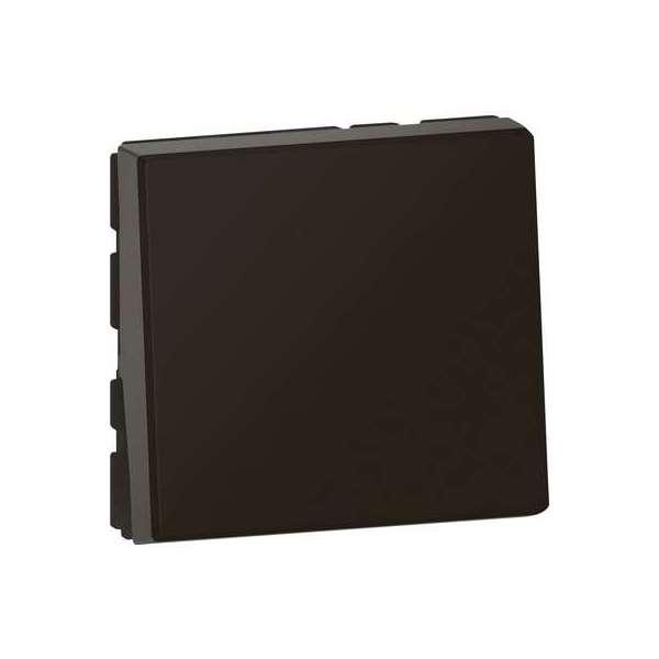 Bouton poussoir / poussoir inverseur noir mat - Mosaïc easy Led - 2 modules - Legrand