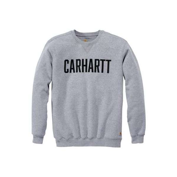 Sweat gris col rond logo block - Taille S - Carhartt