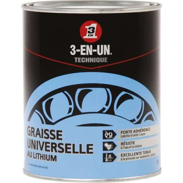 Graisse universel au lithium - Pot de 1 kg - 3-EN-UN
