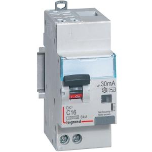 Disjoncteur différentiel DX³ 4500 - 6 kA courbe C - Type AC - 10 A - 2 modules - Connexion vis / vis - Legrand