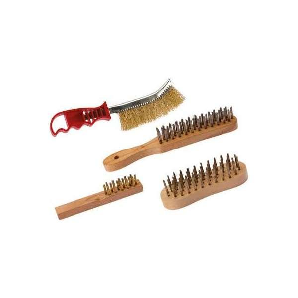 Brosse fils acier laitonné - Lot de 4 - SCID