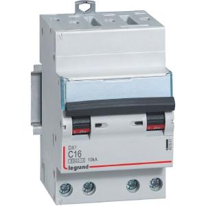 Disjoncteur DX³ 6000 - 10 kA courbe C - 16 A - 3 modules - Connexion auto / vis - Legrand