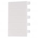 Obturateur blanc - 5 modules - Pour coffret Ekinoxe - Legrand