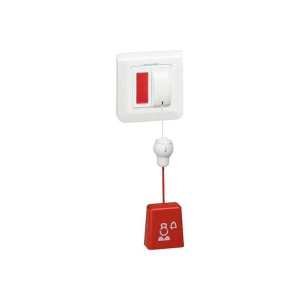Bloc d'appel sanitaire Mozaïc à tirette verticale - Voyant LED rouge - Legrand