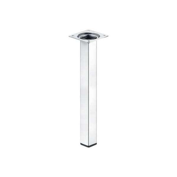 Pied carré en acier de table - Hauteur 300 mm - Häfele