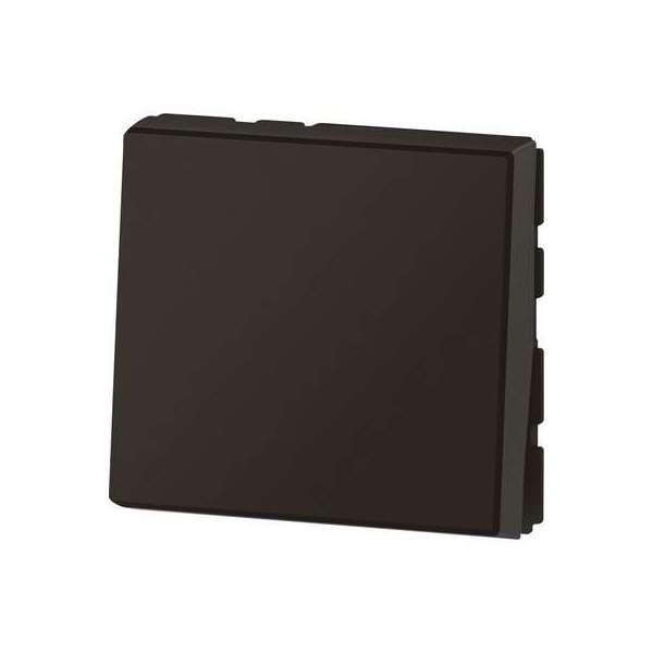 Interrupteur / va-et-vient noir mat - Mosaïc easy Led - 2 modules - Legrand