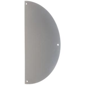 Plaque de propreté inox - Demi-lune - 300 x 150 mm - Percée - Duval