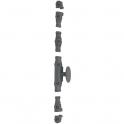 Crémone à bouton peint série forte - type RY 59 - Jardinier massard