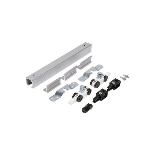 Kit de garniture Expert pour porte coulissante - Capacité 40 kg - Rail 2 m - ROB