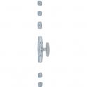 Crémone en acier zingué à bouton - Type map 1 - MAP industries