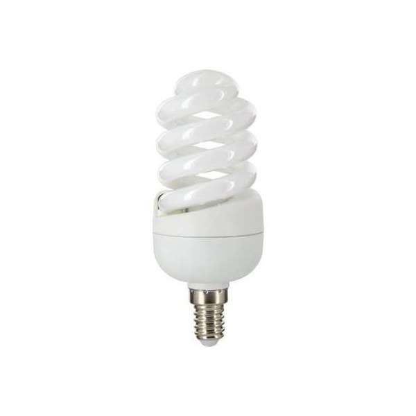 Ampoule fluocompacte Spirale - E14 - 15 W - 2700 K - Dhome