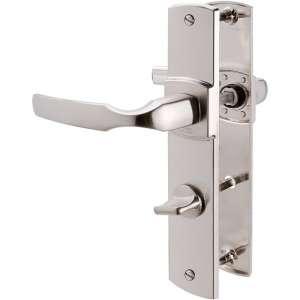 Poignée de porte sur plaque platine - Condamnation - 185 mm - Artis - Vachette