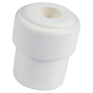 Butoir rond caoutchouc blanc creux - Ø 32 x 36 mm - Civic industrie