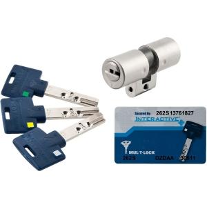 Cylindre rond inox - 31 x 31 mm - Interactive + - Mul-T-lock