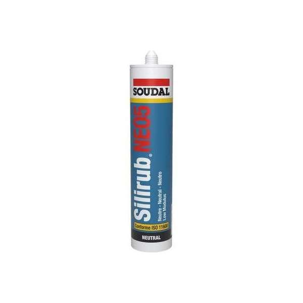 Mastic silicone Silirub NEO5 1015 - Cartouche 300 ml - Teinte noir - Soudal