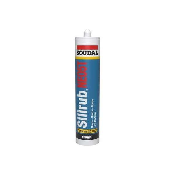 Mastic silicone Silirub NEO5 1015 - Cartouche 300 ml - Teinte Blanc - Soudal