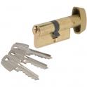 Cylindre à bouton varié laitonné - B30 x 30 mm - TE5 - Tesa