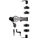 Accessoires d'espagnolette noir - À crochets courbés - Provence - Torbel industrie