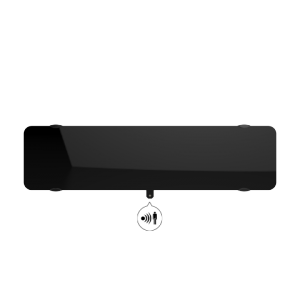 Radiateur à inertie sèche en verre - Plinthe - CAMPAVER ULTIME 3.0 Smart ECOcontrol® - 1200 W - Noir astrakan - Campa