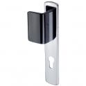 Poignée de porte palière simple chromé - Cle I - Riv Bloc - Vachette