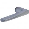 Poignée de porte simple argent - Carré 7 mm - PE 24 - Vachette