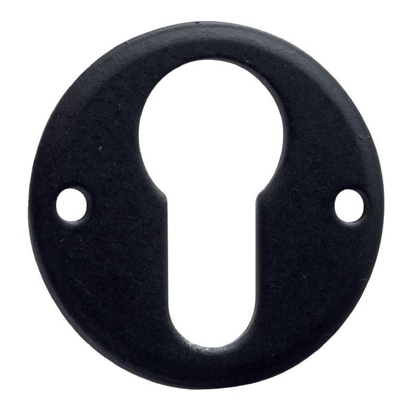 Rosace ronde acier noire - Clé I - Brionne