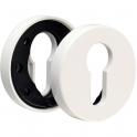 Rosace ronde blanche - Clé I - NY92F et NY94F - La paire - Normbau