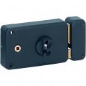 Serrure en applique noire droite à fouillot - Clé I - Axe à 60 mm - Classique - Thirard