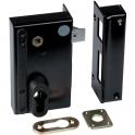 Serrure en applique noire droite à fouillot - Clé I - Axe à 45 mm - Série ND10 - DOM