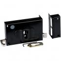 Serrure en applique noire droite à Tirage - Clé I - Axe de 52 à 70 mm - Série ND10 - DOM