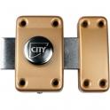 Verrou targette à bouton seul - 56 mm - City 25 - Iséo